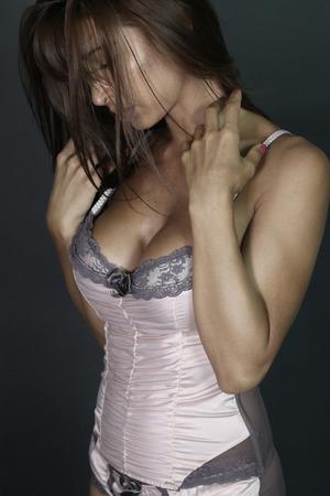 Perfect woman wearing underwear