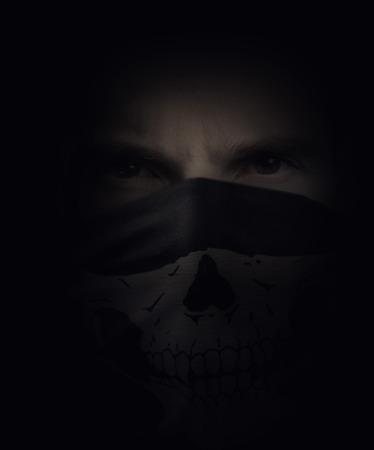 portrait of a man with a skull bandana Reklamní fotografie
