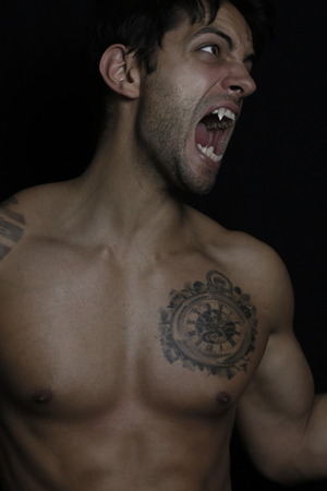young man turning into werewolf