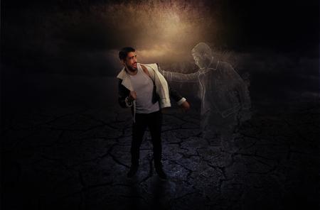 refusing: Young man Refusing death