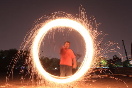 beauties: This is one of the beauties of fireworks which form a circular pattern