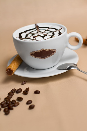 Image of cup of tasty coffe photo