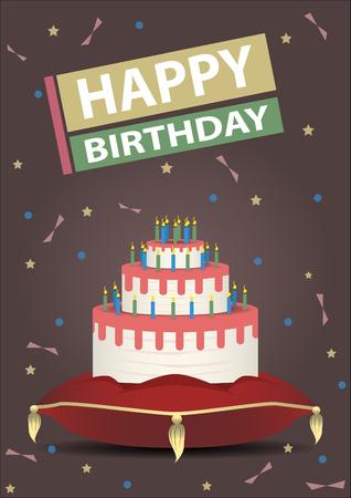Birthday card vector design.