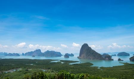 phang nga: viewpoint at sametnangshe in Phang Nga, Thailand Stock Photo