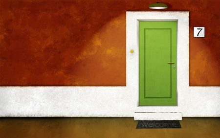 frontdoor: House front night