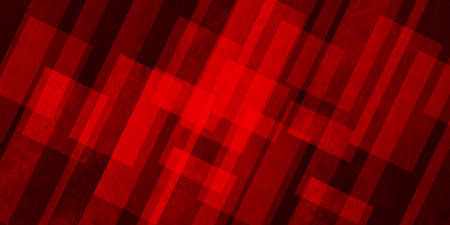 Abstract red background from quadrangles, 3d illustration Standard-Bild
