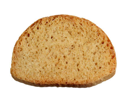 Cracker from white bread it is isolated on a white background  Stock Photo