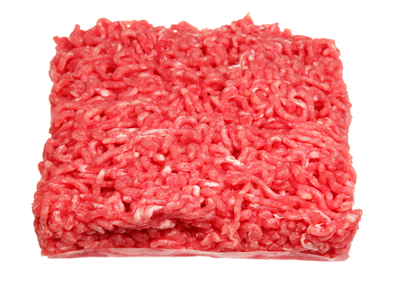 forcemeat: Forcemeat from beef it is isolated on a white background