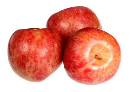 Discharge fruit pink ripe it is isolated on a white background
