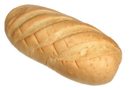 long loaf: Long loaf of white bread it is isolated on a white background