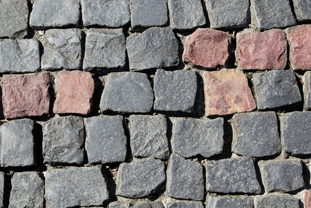 cobblestone road: City old cobblestone road