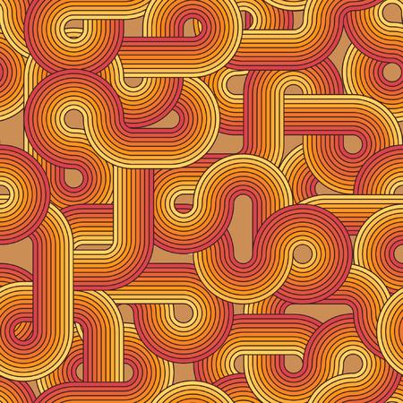 温かみのある色調、編集できるシームレスなレトロ パターン