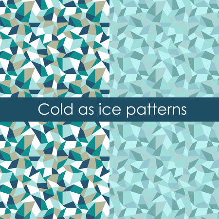 The pack of 2 polygon patterns, simulating ice splinters.
