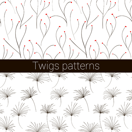 twigs: Set of 2 twigs patterns Illustration