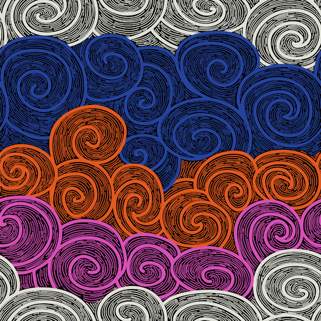 whorl: whorl seamless hand drawn pattern