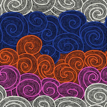 whorl: whorl seamless hand drawn pattern