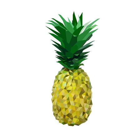 yelllow: low polygon yelllow pineapple made of triangles