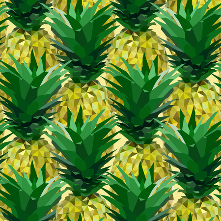 polyhedron: close lowpoly pineapple pattern on almost white