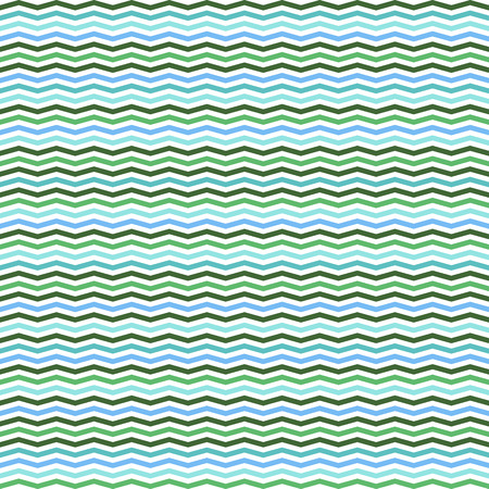 mid century: chevron stripe vector seamless pattern turquoise clored Illustration