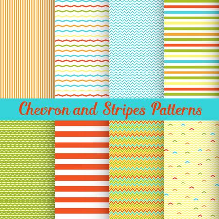 Simple Summer Chevron and Stripes-patronen instellen