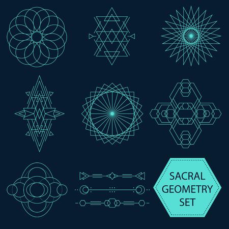 sacral: Sacral Geometry Vector Set of ten figures