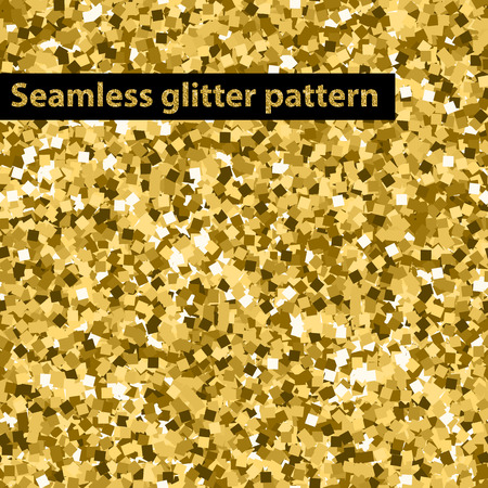 Vector seamless gold glitter texture checked pattern