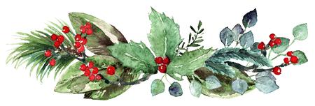 Watercolor Scandinavian Christmas Composition