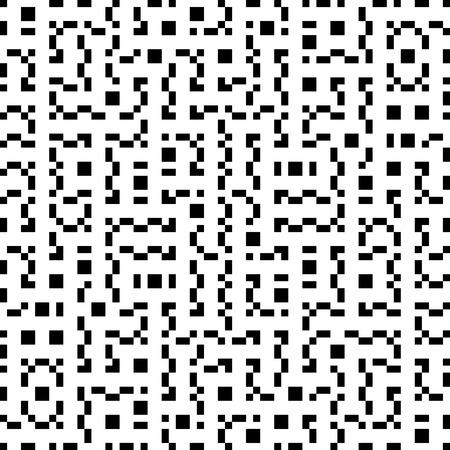 Vector Seamless Geometry Truchet Pattern Vector Illustration