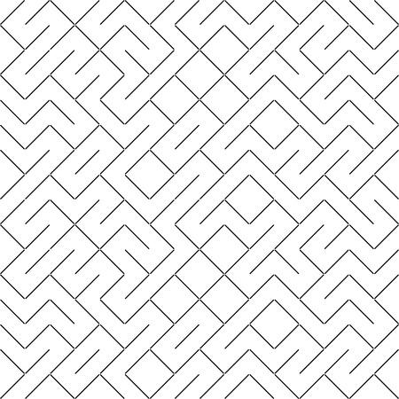Vector Seamless Geometry Truchet Pattern Çizim