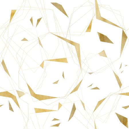 Geometric Golden Foil Seamless Pattern