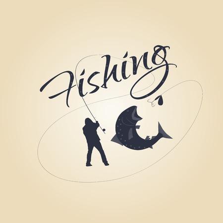 étiquettes de pêche et des éléments de conception. Logos pour un restaurant de fruits de mer. Vector design.