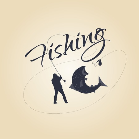 fishing labels and design elements. Logos for a seafood restaurant. Vector design.