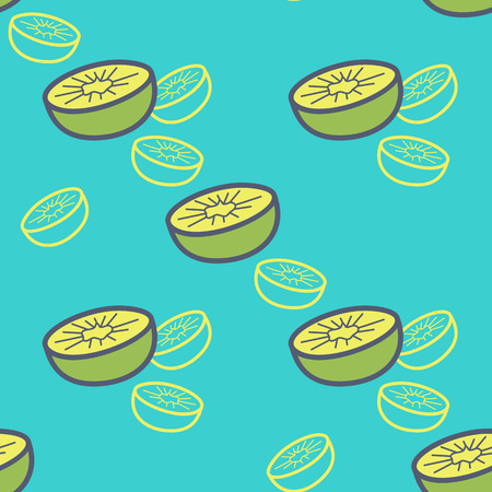 topical: Seamless retro pattern of topical fruit. The design of the kiwi and motives kiwi packaging, textiles, paper. Vector illustration