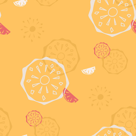 topical: Seamless retro pattern of topical fruit. The design of pineapple and pineapple motifs for packaging, textiles, paper. Vector illustration