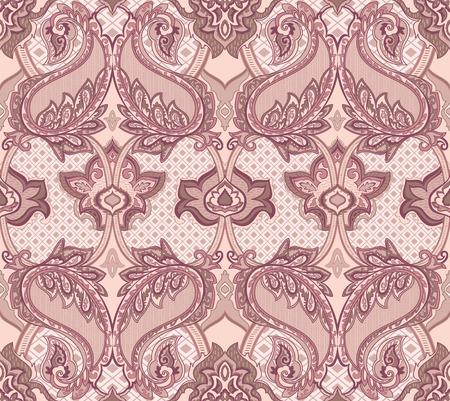 disegni cachemire: Barocco Paisley seamless per la progettazione di imballaggi, carta e tessuti. Illustrazione vettoriale