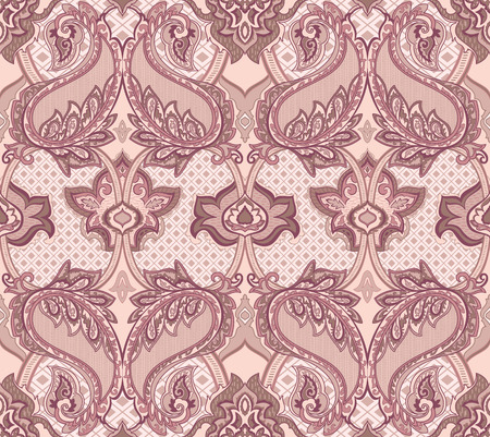 paisley: Baroque Paisley seamless pattern for design of packaging, paper and textiles. Vector illustration Illustration