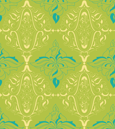 decoupage: Damask vintage seamless pattern for design of packaging, paper, textiles and decoupage. Vector illustration Illustration