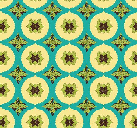 retro wallpaper: Vintage seamless pattern for design of packaging, paper, textiles and decoupage. Vector illustration