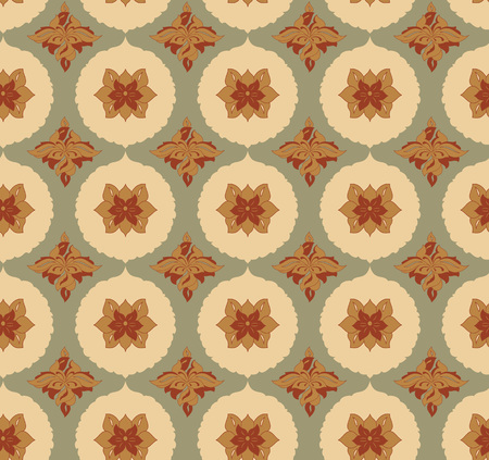 decoupage: Vintage seamless pattern for design of packaging, paper, textiles and decoupage. Vector illustration