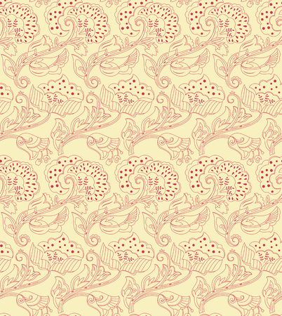 decoupage: Floral vintage seamless pattern for design of packaging, paper, textiles, scrapbooking and decoupage. Vector illustration