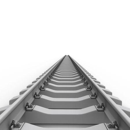 straight path: Long Rails