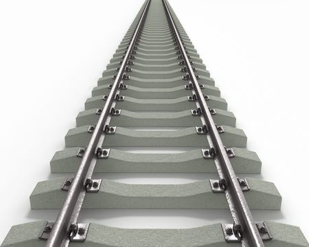black and white railroad tracks: Long Rails Textured