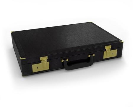 black briefcase: Malet�n negro