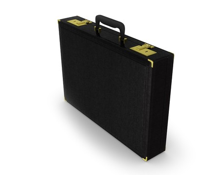 black briefcase: Malet�n negro permanente