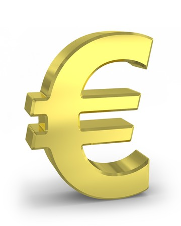 currency symbols: Golden euro sign Stock Photo