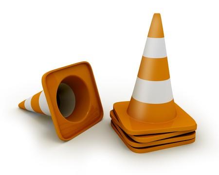 Few road cones photo
