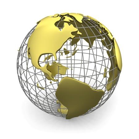Golden globe, America  Stock Photo
