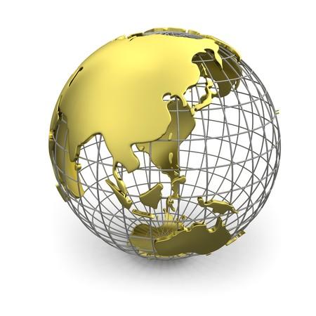 weltkugel asien: Golden Globe, Asien  Lizenzfreie Bilder