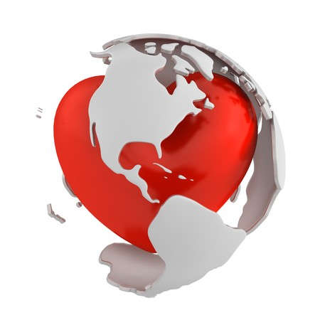 gyration: Globe with heart, America part