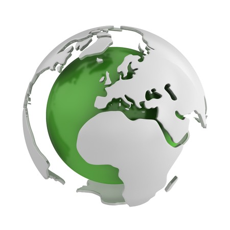 Atlas: Abstrakt gr�n Globus, Europa  Lizenzfreie Bilder